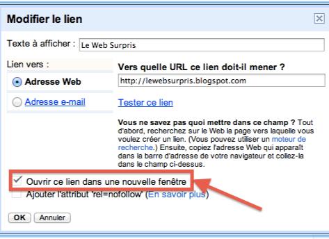 Blogger ouvrir ou pas les liens sur une nouvelle fen tre for Ouvrir une nouvelle fenetre html