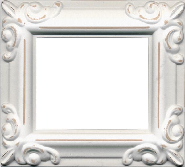 Vintage White Frame : Vintage White Frame Png Scrap kit - white vintage frames - 9 images