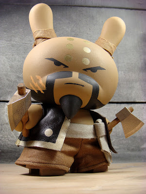 Not So Glorious Soaring Hatchet Munk 8 Inch Custom Dunny by Huck Gee