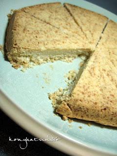 sliced round shortbread