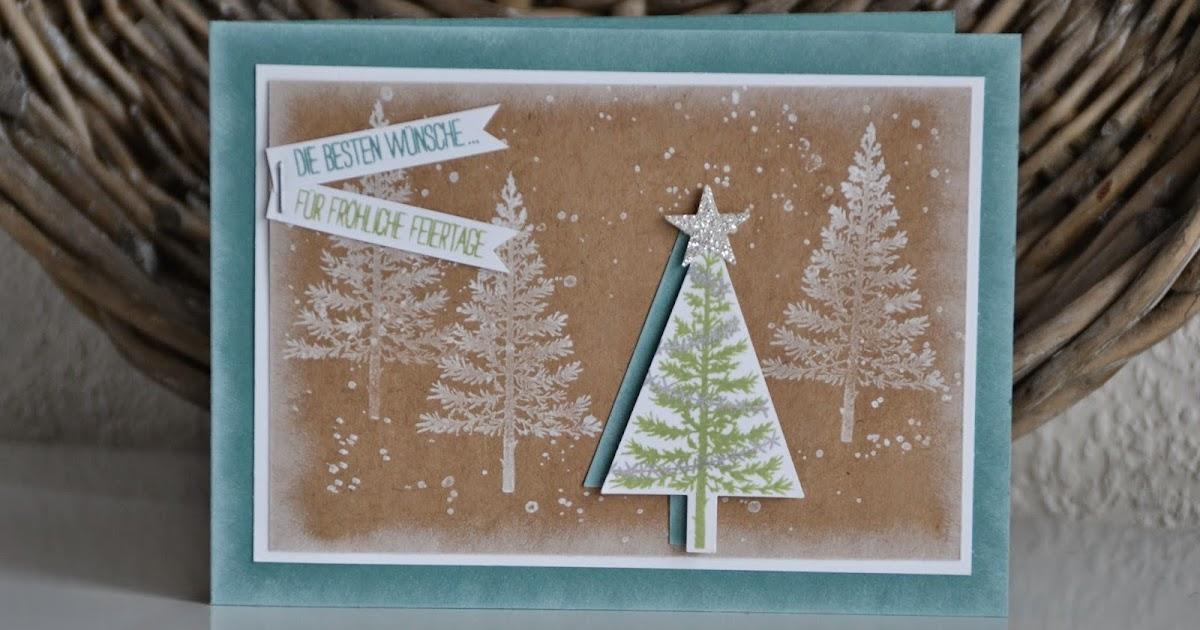 kreativ mit liebe weihnachtskarte mit dem set 39 christbaumfestival 39. Black Bedroom Furniture Sets. Home Design Ideas