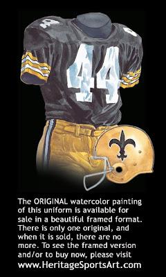 New Orleans Saints 1971 uniform
