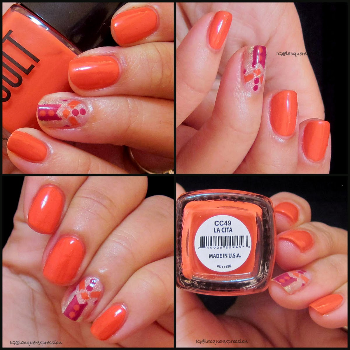 Swatch and review of cult cosmetics la cita nail polish