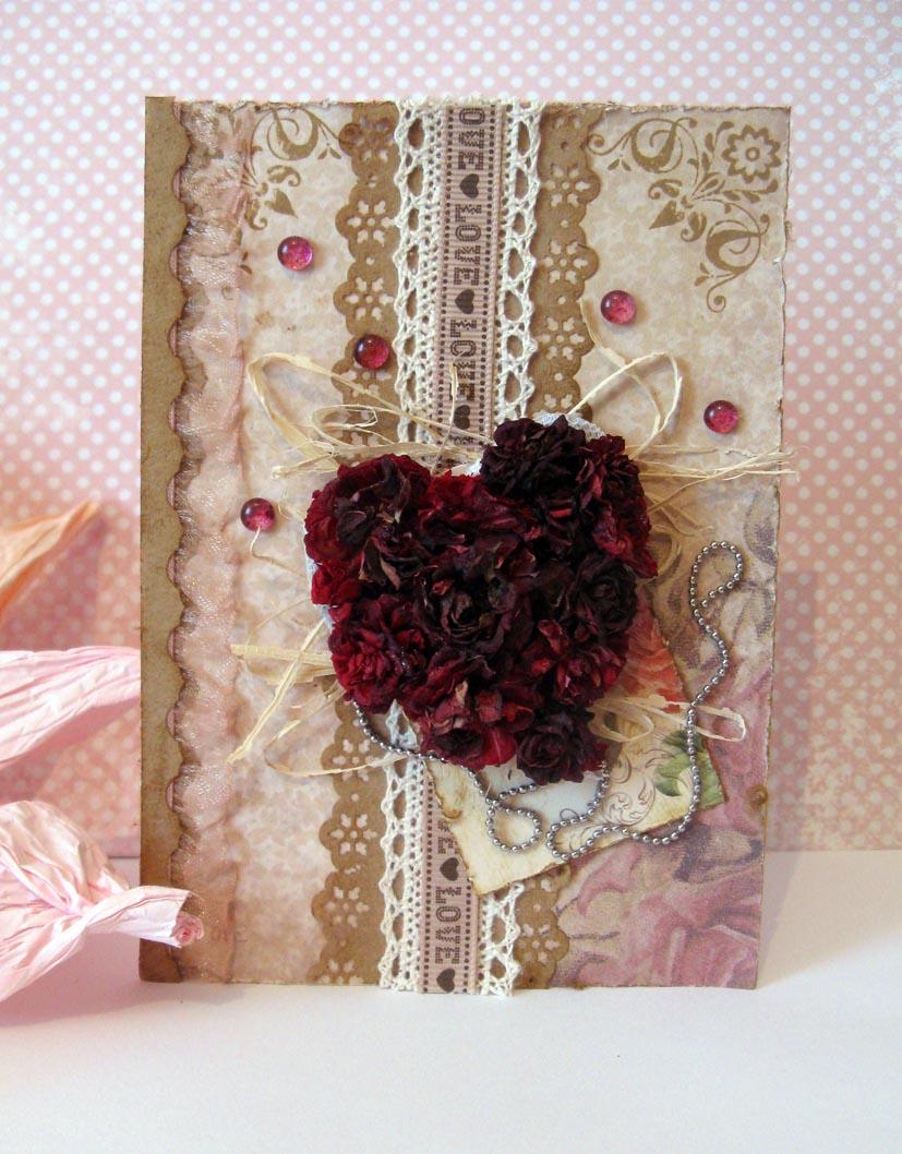 Открытки из засушенных цветов 76
