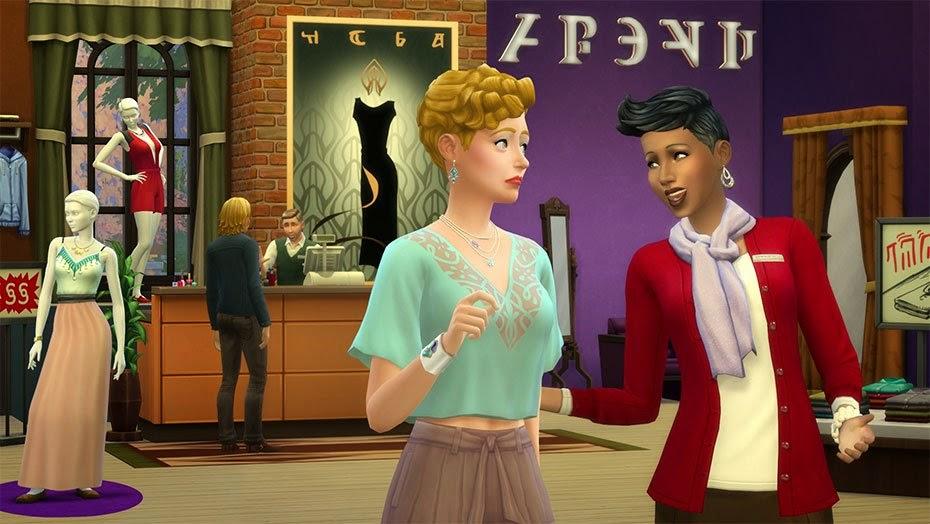 Otra imagen de ejemplo de una pantalla del juego Los Sims 4 ¡A trabajar!