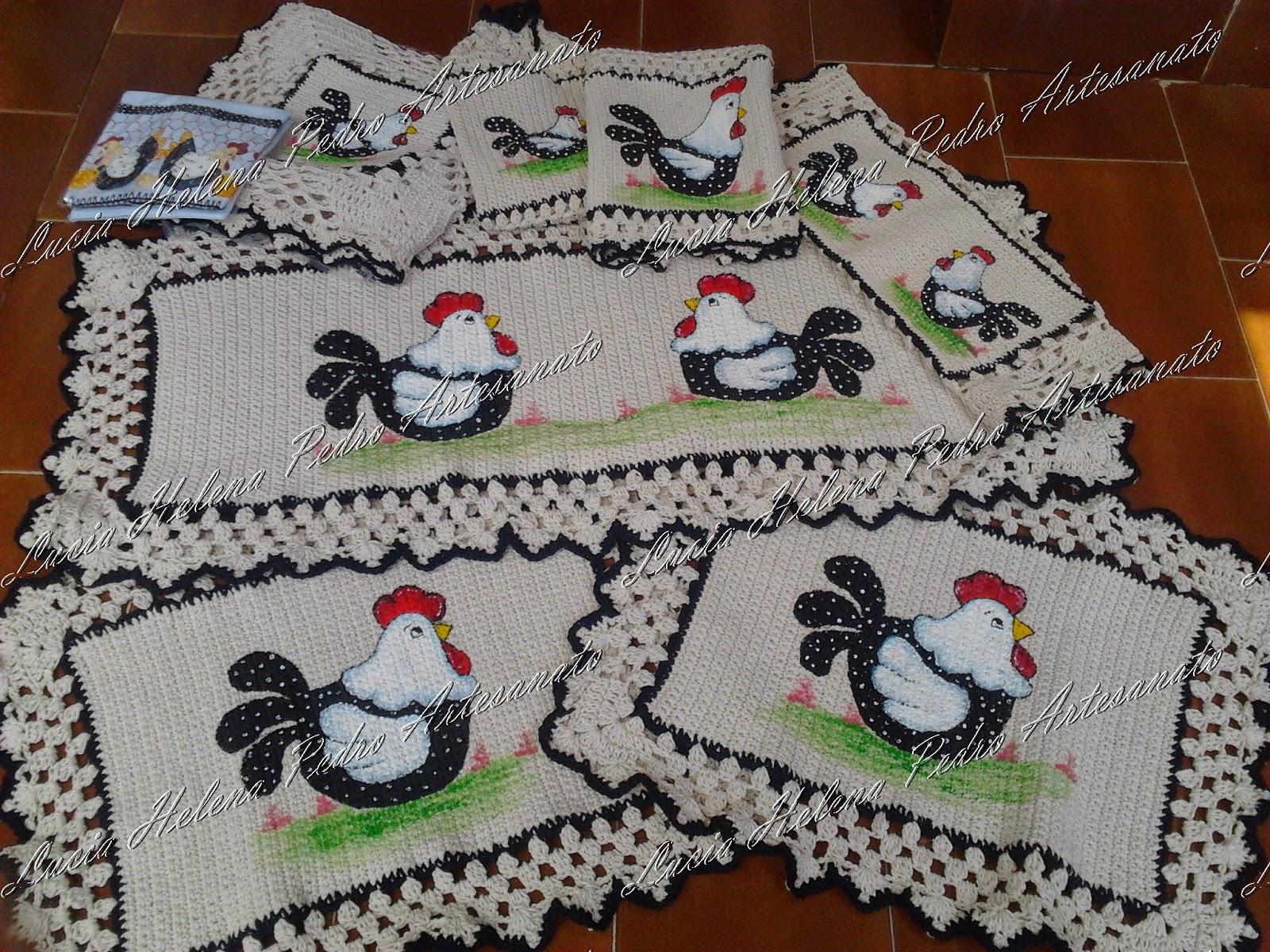 Harmonia Em Croch Jogo De Cozinha Galinha