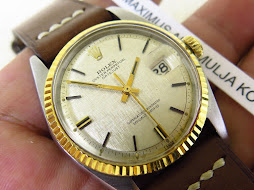 ROLEX OYSTER PERPETUAL DATE JUST SIVER LINEN DIAL - ROLEX 1601 - PART B