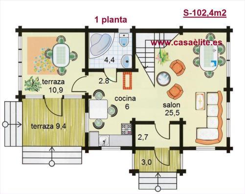 Plano de arquitectura de la planta de una casa