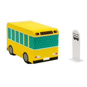 Making Rubber Bus Papercraft Pattern