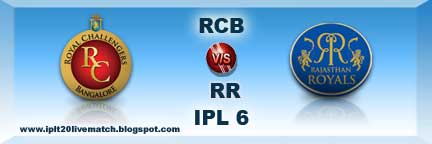 RCB vs RR Live Streaming Video and Highlight