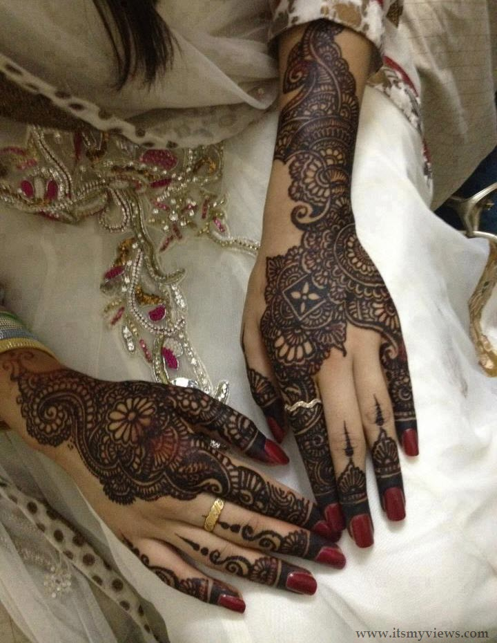 Mehndi Patterns Bridal : Indian bridal mehndi designs desings