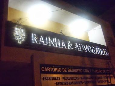 ILUMINAÇÃO EM LED LETREIROS EM LETRAS CAIXA FACHADAS  RAINHA ADVOGADOS EMBU GUAÇU- SÃO PAULO