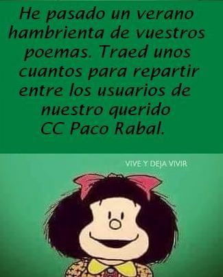 Llamamiento a poetas y amigos de PoeKas: Mafalda pide poemas