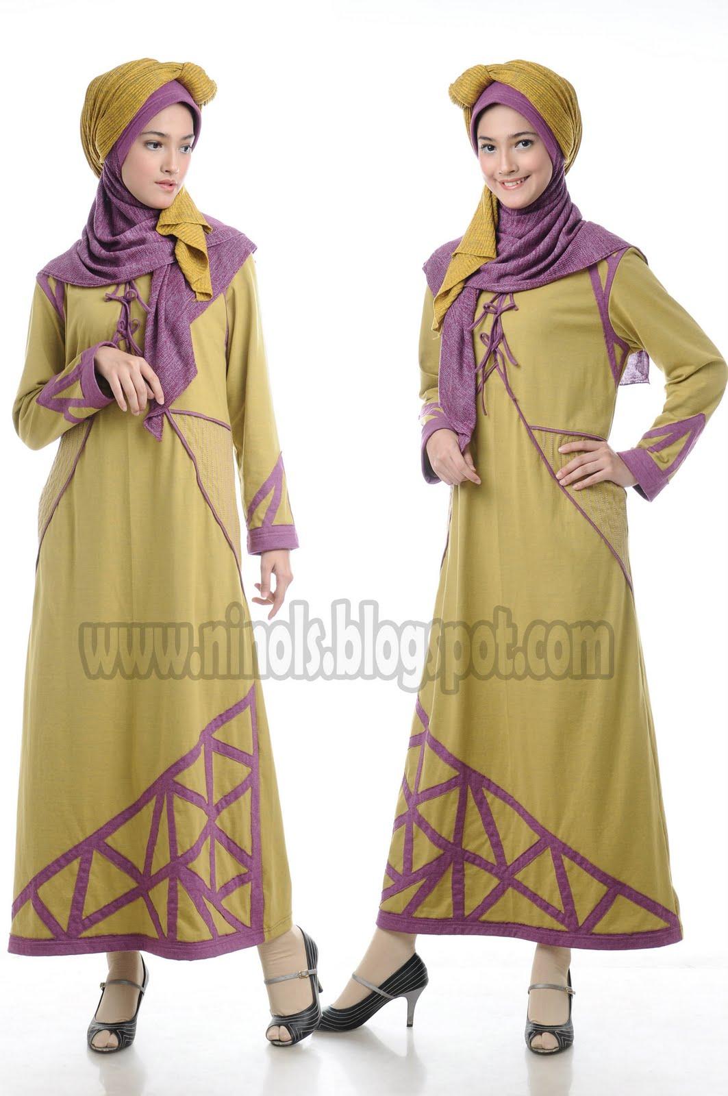 Ninols busana muslim kaos gamis kaos blus kaos celana Baju gamis pasar baru bandung