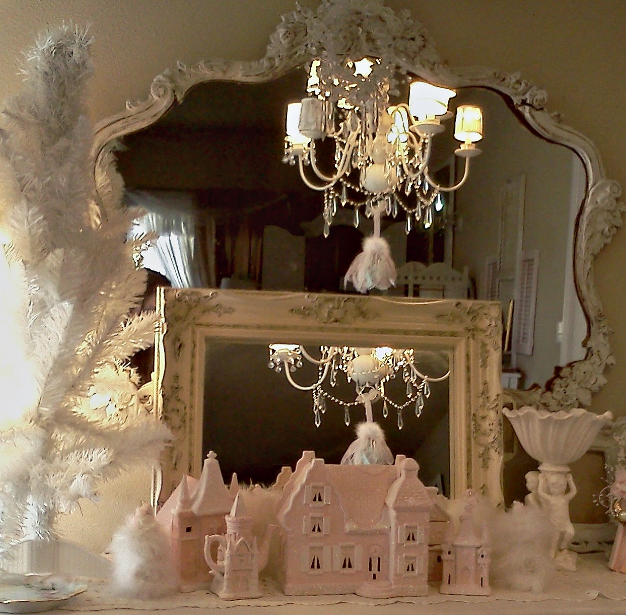 Olivia 39 s romantic home shabby chic christmas village for Shabby chic christmas