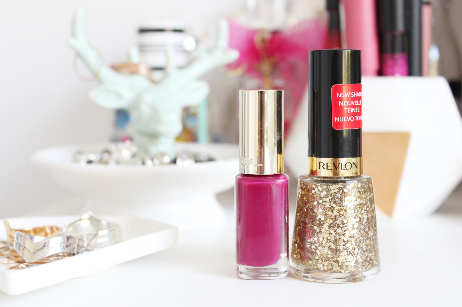 NOTD | L'Oreal Colour Riche Le Vernis in 870 Fourreau Inferno + Revlon Nail Lacquer in Sequins - CassandraMyee