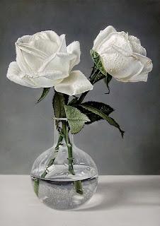 Rosas Blancas Pintadas