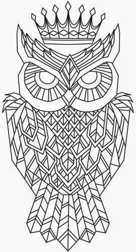 Owl Coloring Pages Patterns and Designs