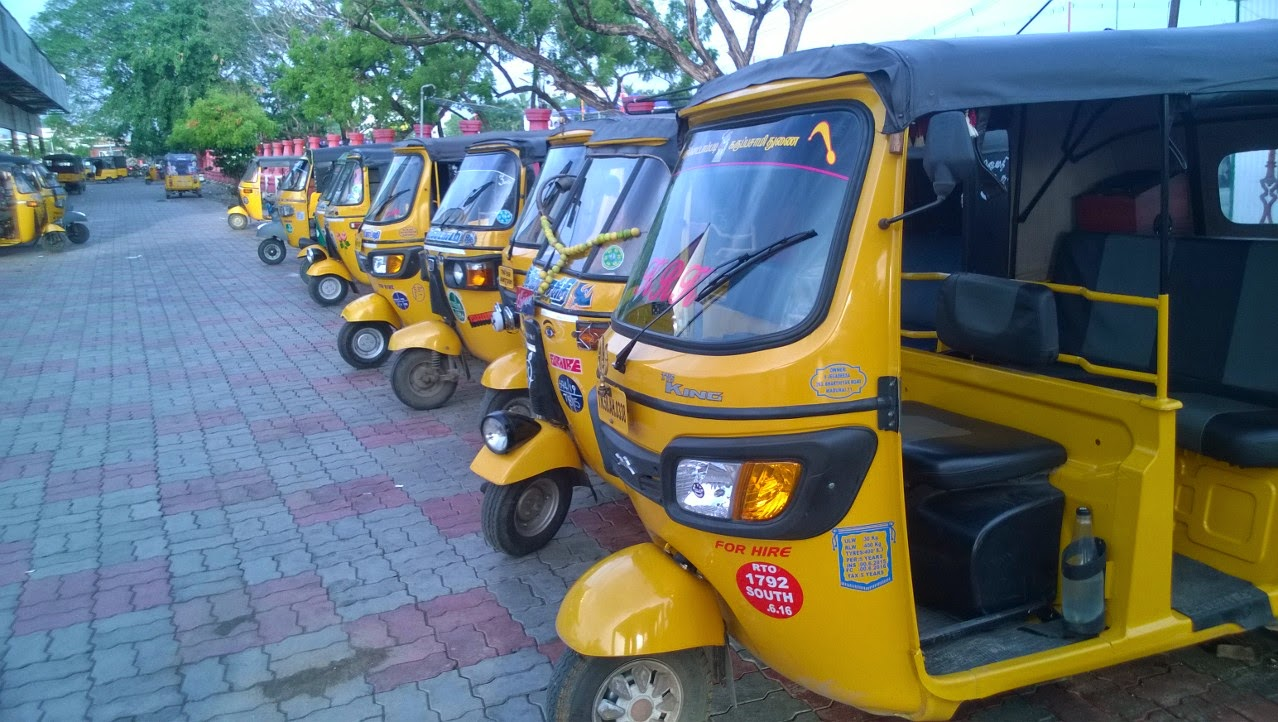 Auto rickshaw's in front of Madurai bus stand