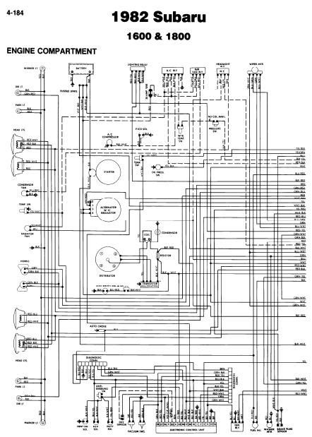 repairmanuals  Subaru 1600 1800 1982 Wiring Diagrams