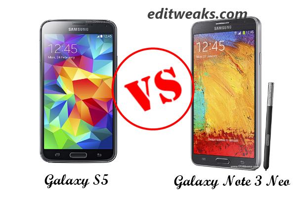 Galaxy S5 versus Galaxy Note 3 Neo
