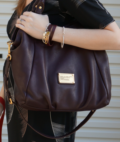away from the blue marc by marc jacobs carob brown fran bag worn