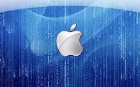 papel de parede apple azul