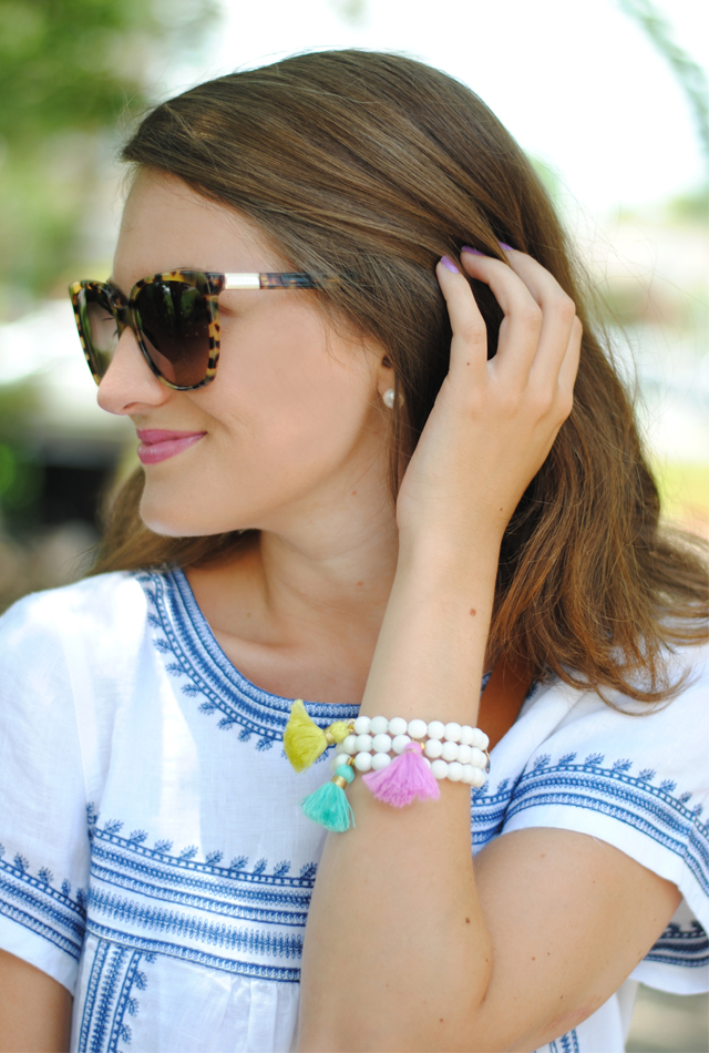 Those tassel bracelets are too cute!