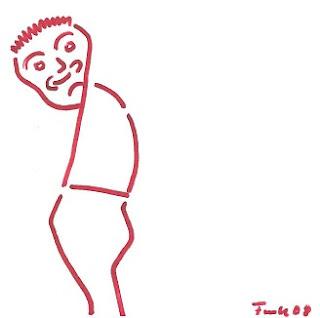 Zeichnung Bild / painting picture : mürrische Person / sulky person