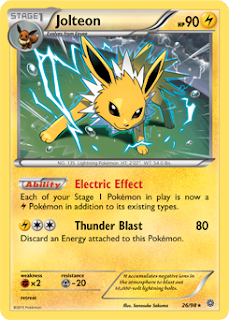 Jolteon Ancient Origins Pokemon Card