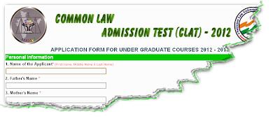 CLAT 2012 Online Form