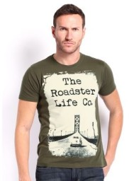 Flipkart offer:Buy Men's Roadster T-shirts At upto 50% off