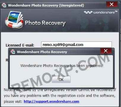 aktivasi Wondershare Photo Recovery
