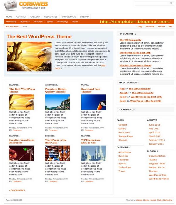 CorkWeb WordPress Theme