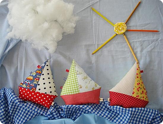 fabric sailing boats