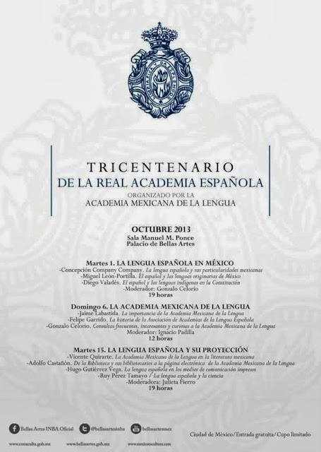 Celebran en México 300 años de la Real Academia Española RAE en el Palacio de Bellas Artes