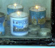 נרות הנשמה באנדרטה לזכר קורבנות השואה בסלוניקי , 4.10.2013