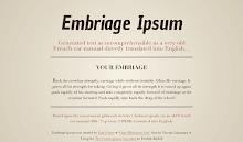 Embriage-Ipsum