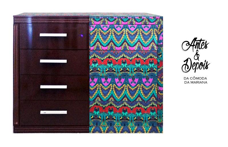 Como revestir uma cômoda de tecido, um jeito barato e prático!