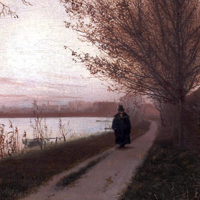 Udsnit fra Efterårsmorgen ved Sortedamssøen, af Christen Købke