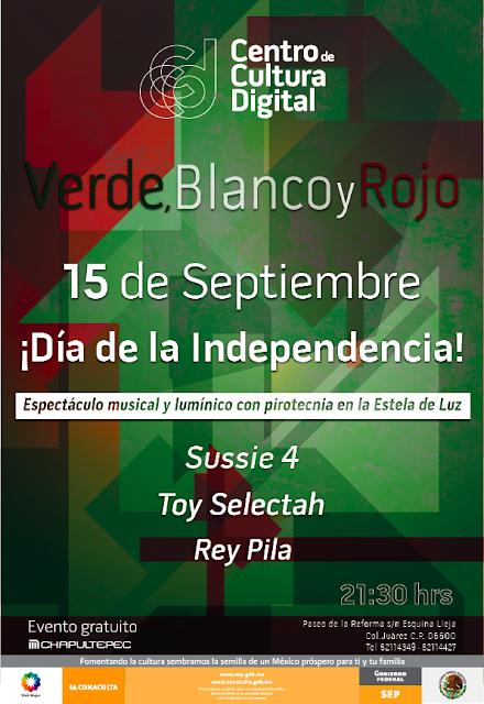 Sussie 4, Toy Selectah y Rey Pila en el Centro de Cultura Digital este 15 de Septiembre