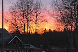 En brinnande himmel!