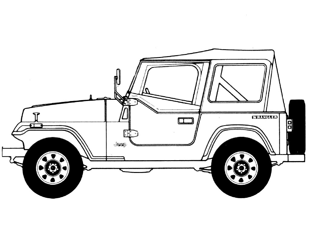 jeep cherokee coloring pages