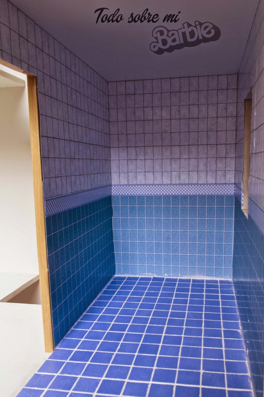 Azulejos Para Baño De Cuadritos:vamos con el suelo, fácil, fácil, he usado una baldosa de gresite de