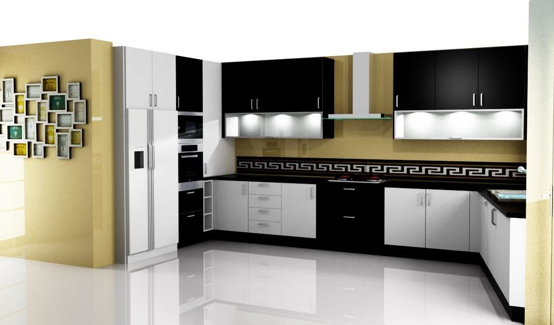 Dise o de cocina con muebles hasta el techo for Aplicacion para diseno de cocinas