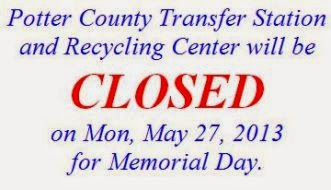 5-27 Potter Co. Transfer Station Closed
