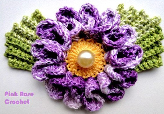Цветок крючком, схема для