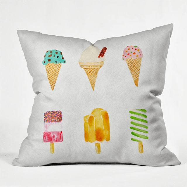 ice cream selection cushion