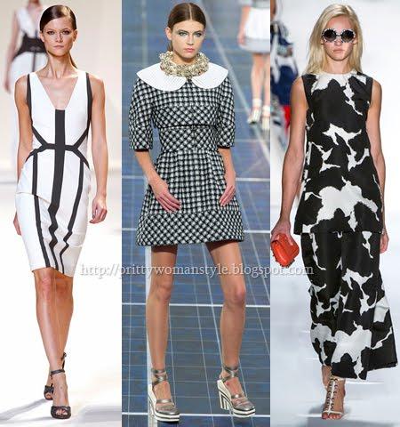 Мода пролет-лято 2013 Черно и Бяло
