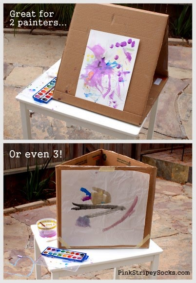 How To Make An Art Easel Out Of Cardboard